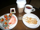 焼き鳥と寿司のオードーブル