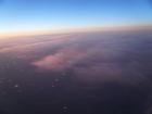 ミシガン湖上空